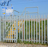 통신 탑 공급자를 위한 강철 Palisade 담이 중국에 의하여 직류 전기를 통했다