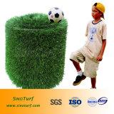 人工的な泥炭40mmの高さの総合的な泥炭、フットボールの擬似草、人工的な芝生