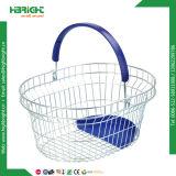 Корзина для товаров ячеистой сети металла с ручками двойника (HBE-B-19)
