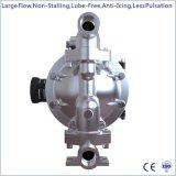 """1つの""""大きい流れのステンレス鋼の空気によって動力を与えられる二重ダイヤフラムポンプ"""