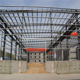 Grande costruzione chiara prefabbricata del magazzino della struttura d'acciaio