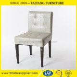 Jantar de ferro moderno cadeira com assento de PU