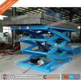 1ton Manual Elevación del cargo hidráulico estacionario Plataforma de tijera para la venta