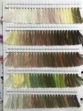Branco cru poli/algodão Núcleo-Girado da linha da tela do poliéster de matéria têxtil da linha Sewing