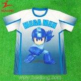 T-shirt d'impression du modèle 3D de mode de vêtements de sport de Healong pour l'homme