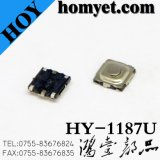 Interruptor do tacto da alta qualidade com Pin redondo SMD da tecla 4 de 5.2*5.2mm (HY-1187S-H15)