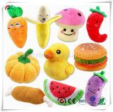Plüsch-packen das Gemüsehundespielzeug, das für Welpen, quietschende Hundespielwaren 10 eingestellt wird, nette angefüllte Obst- und GemüseHundespielwaren für kleine Hunde