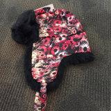 Custmizedの人工毛皮は耳を搭載する冬の帽子を切ったり及び縫う