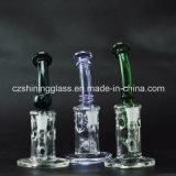 Tubulação de água de fumo de vidro colorida Shining da CZ com projeto do suíço