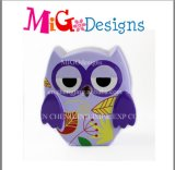 World Wide Brilliant Colorful Owl Design Cerco Piggy Bank
