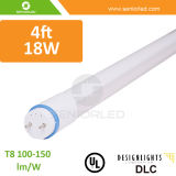 O UL Dlc certificou as luzes T8 do tubo do diodo emissor de luz 18W de 4FT