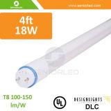 La UL Dlc certificó las luces T8 del tubo de los 4FT 18W LED