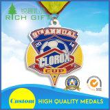 Médaille classique de souvenirs en métal de modèle simple de forme ronde de type de ventes en gros