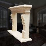 Chaminé de mármore lisa com qualidade Mão-Cinzelada fina e estilo simples