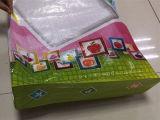 Saco tecido PP barato da parte inferior lisa para 25kg, 50kg