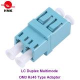 Tipo de fibra óptica adaptador LC dúplex monomodo / multimodo APC / OM3 / OM4 RJ45