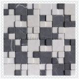 Wit 3D Marmeren Mozaïek voor de Tegel van de Muur