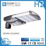 Fabricante da Luz Alta Eficiência energética LED 120W luz de estrada com DLC