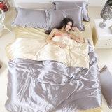 サテンの絹の敷布の羽毛布団カバー寝具セット
