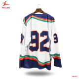 Healong Hot Sale Sportswear Dry Fit SUBLIMATION Maillot de Hockey sur glace
