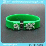Movimentação da pena do USB do bracelete com logotipo do relevo (ZYF1261)