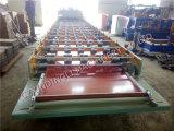 Prix usine faisant le matériau de construction glacé pour couvrir de tuiles le roulis de tuile glacé par toiture en métal formant la machine à vendre