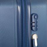 Reeks van 3 LichtgewichtABS Gevallen van de Zakken van de Bagage van PC Zilveren
