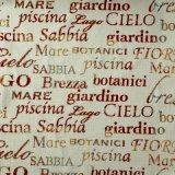 Tessuto del sofà della tappezzeria di Decrotive della tessile del poliestere di stampa di Digitahi della lettera