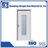 Bois de haute qualité de porte intérieur en plastique pour salle de bains