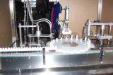 Rociar la Botella de boca de llenado de agua líquida tapadora máquina de etiquetado de sellado