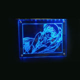 LED de acrílico de la imagen, encendida la pantalla fotográfica