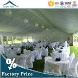 20mx30mの美しく、贅沢で白いキャンバスの広州の絹のテントのライニングが付いている大きい結婚披露宴のテント