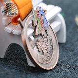 Античное бронзовое изготовленный на заказ полое медаль марафона металла с эмалью