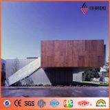 15 ans de la garantie PVDF de panneau composé en aluminium de configuration en bois