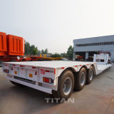 대륙간 탄도탄 3 차축 반 60 톤 유압 정면 선적 낮은 소년 분리가능한 거위 목 낮은 로더 트럭 트레일러 가격