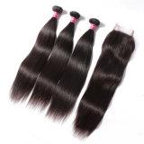 Extensões de cabelo humano Pacotes Reta Virgem Cabelo Indiano