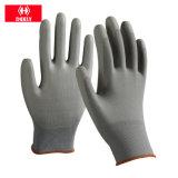 Paume noire d'unité centrale enduite des gants noirs de sûreté de polyester