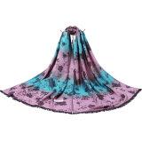 Basisrecheneinheits-Art gesponnener langer Schal der Frauen