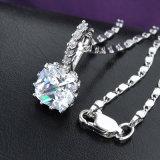Conjunto elegante de la joyería del collar del Zircon del oro blanco de la joyería de la boda