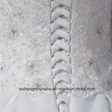 Neue Ankunfts-Hochzeits-Kleid-Robe-Tulle-trägerloses Hochzeits-Kleid