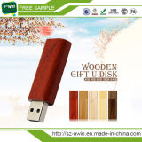 Выдвиженческий подгонянный деревянный привод пер USB ручки USB