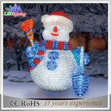 Lumière acrylique de motif de bonhomme de neige de Noël de l'horizontal 3D DEL