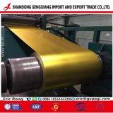 Cor dourada de fábrica de aço PPGI Prepainted PPGL para decoração
