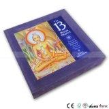Impression réglée de livre spécial avec des pièces de monnaie de paquet de cartes de cadre et des sacs de tissu