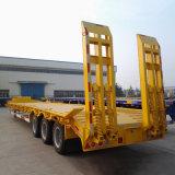 Remorque 3 essieux Cimc 60 tonne 80 tonne faible lit semi-remorque