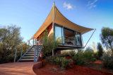 リゾートのGlampingの屋外家の贅沢な八角形のホテルのテント