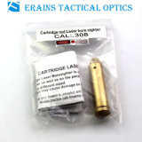 Erains Tac Optics Gold Full Brass Cal:. 308 Cartridge Red Laser Pointer Bore Sighter (-09)