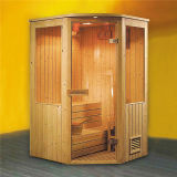 Fenêtre de verre pour deux personnes Sauna Traditionnel House (M-6008)