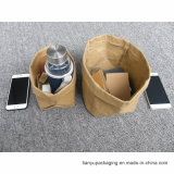 Bolsa de papel lavable bolsas de papel lavables grandes o pequeñas de Brown de Kraft