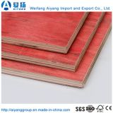 Comercio al por mayor núcleo de madera de alta calidad de color rojo de 12mm película enfrentó la madera contrachapada